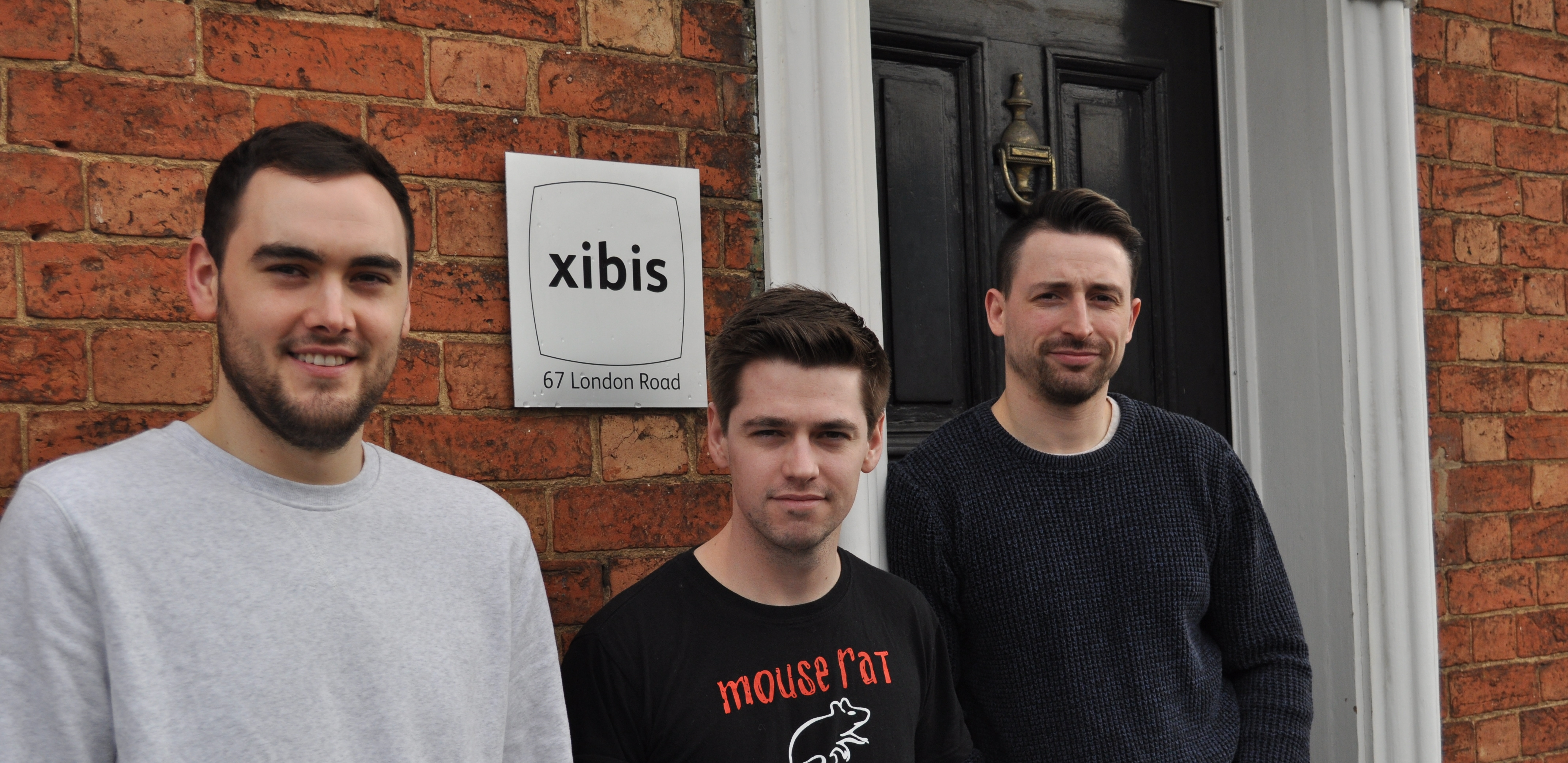 Rhys, Andy and Brad outside the Xibis offices