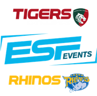 Logos for ESF Events, Rhinos Challenge and Tigers Challenge