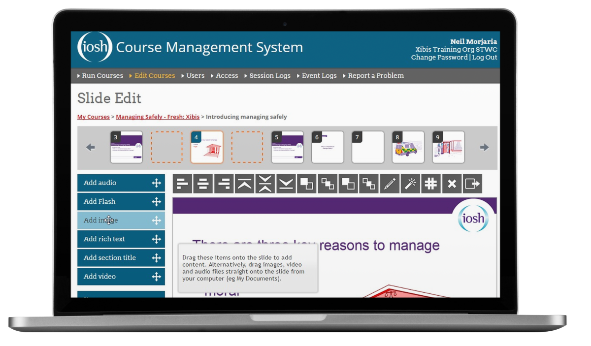 IOSH Course Management Training Portal